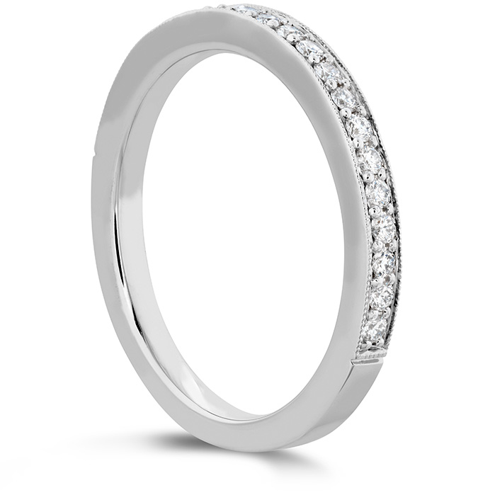 Women's Wedding Bands - 0.18 ctw. Liliana Milgrain Diamond Band in 18K White Gold - image #2