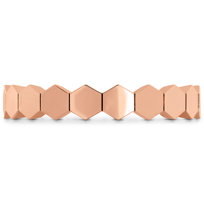 Women's Wedding Bands - HOF Hex Metal Eternity Band in 18K Rose Gold