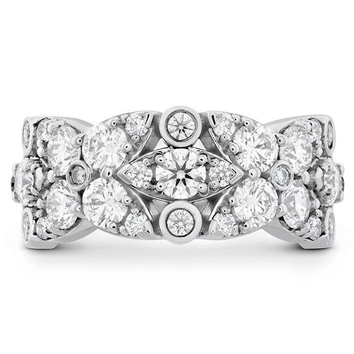 Women's Wedding Bands - 1.85 ctw. HOF Regal Diamond Ring in 18K White Gold