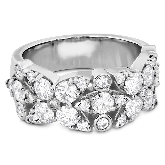 Women's Wedding Bands - 1.85 ctw. HOF Regal Diamond Ring in 18K White Gold - image #3
