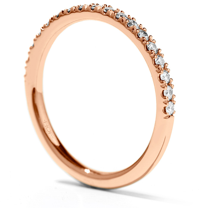 Women's Wedding Bands - 0.25 ctw. Transcend Wedding Band in 18K Rose Gold - image #2