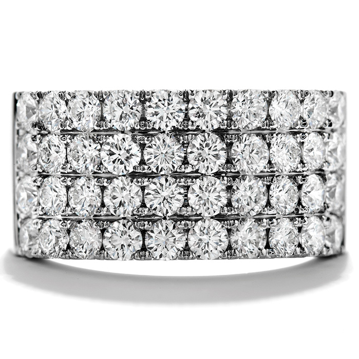 Women's Wedding Bands - 1.95 ctw. Truly Classic Four-Row Right Hand Ring in 18K White Gold