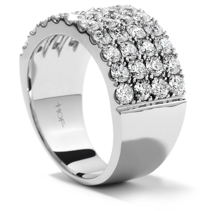 Women's Wedding Bands - 1.95 ctw. Truly Classic Four-Row Right Hand Ring in 18K White Gold - image 2