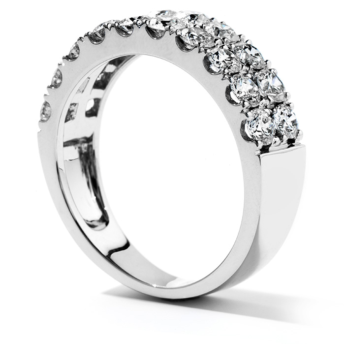 Women's Wedding Bands - 1.5 ctw. Truly Classic Double-Row Wedding Band in Platinum - image #2