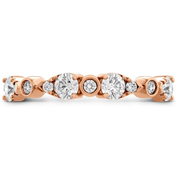 Women's Wedding Bands - 0.6 ctw. HOF Teardrop Bezel Diamond Band in 18K Rose Gold
