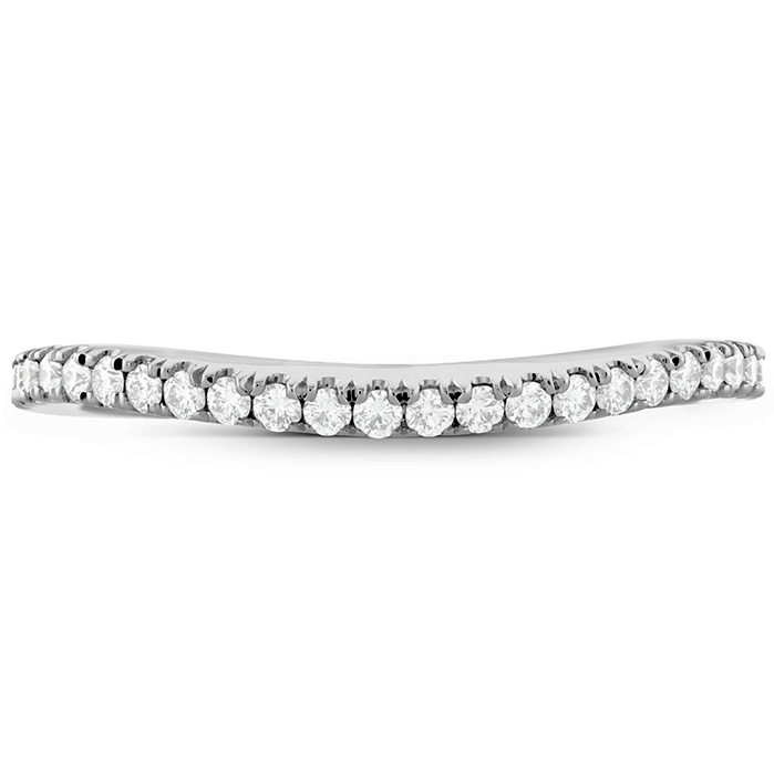 Anniversary Bands - 0.18 ctw. Transcend Premier Curved Diamond Band in Platinum