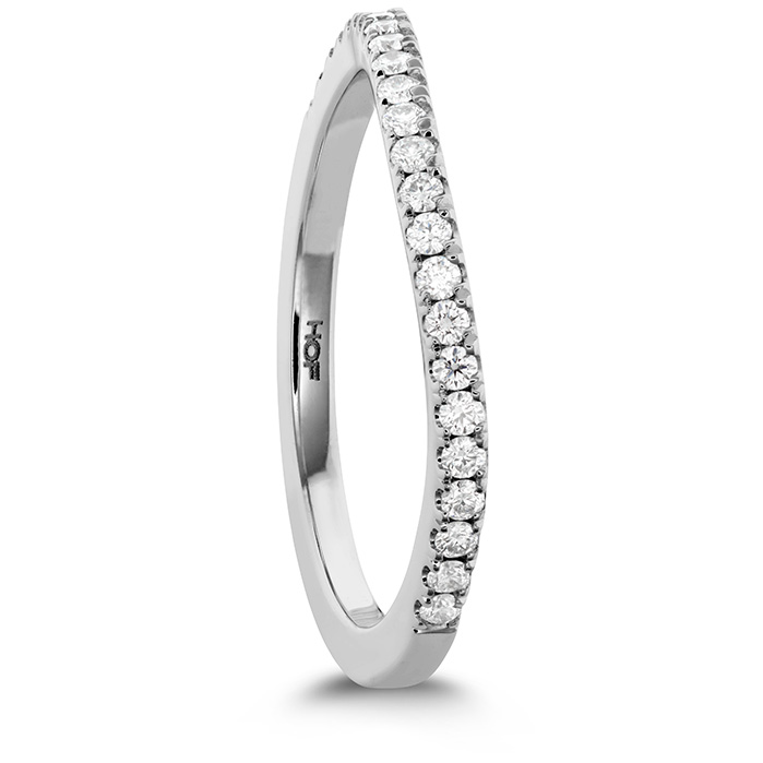 Anniversary Bands - 0.18 ctw. Transcend Premier Curved Diamond Band in Platinum - image #2