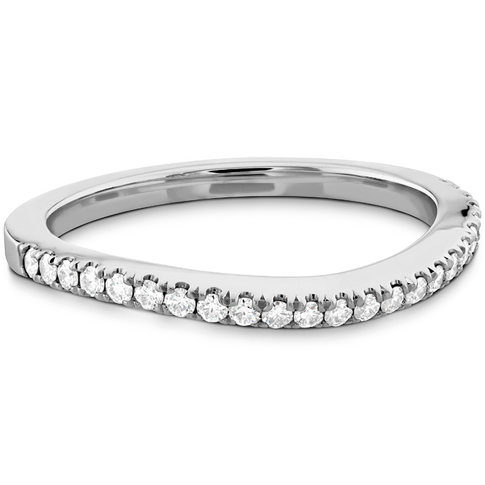 Anniversary Bands - 0.18 ctw. Transcend Premier Curved Diamond Band in Platinum - image #3