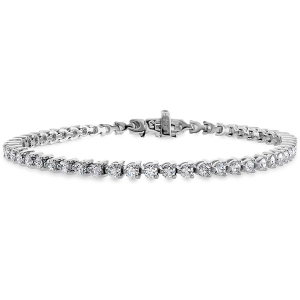 Women's Wedding Bands - 3.25 ctw. Temptation Three-Prong Bracelet in 18K White Gold