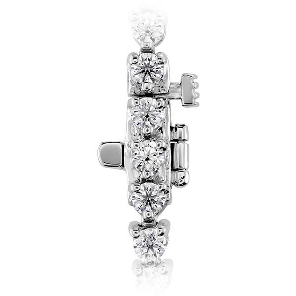 Women's Wedding Bands - 3.25 ctw. Temptation Three-Prong Bracelet in 18K White Gold - image #2