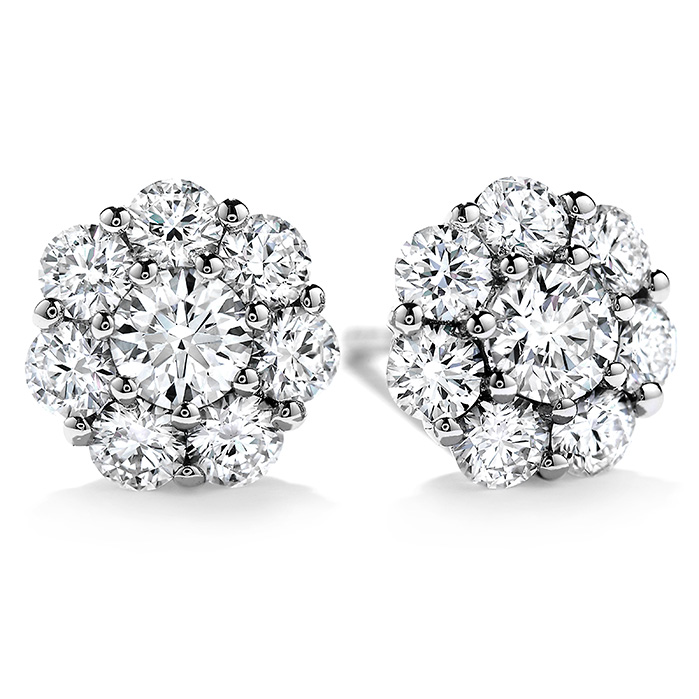 Women's Wedding Bands - 1.4 ctw. Beloved Stud Earrings in 18K White Gold