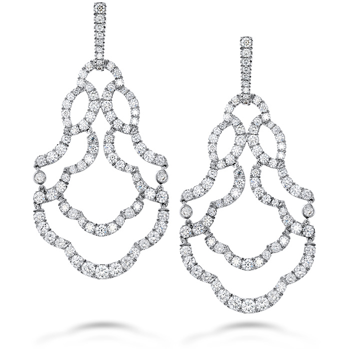 Women's Wedding Bands - 6.5 ctw. Lorelei Chandelier Diamond Earrings in 18K White Gold