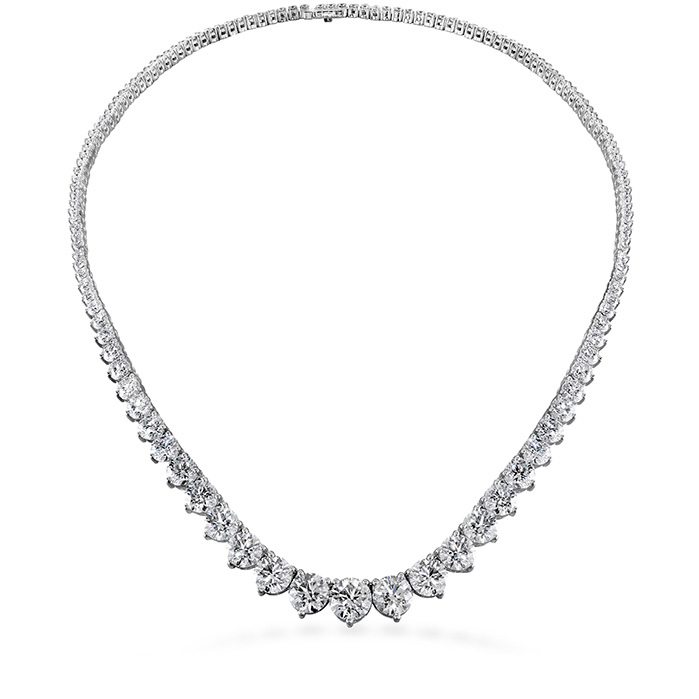 Women's Wedding Bands - 10 ctw. Temptation Three-Prong Necklace in 18K White Gold