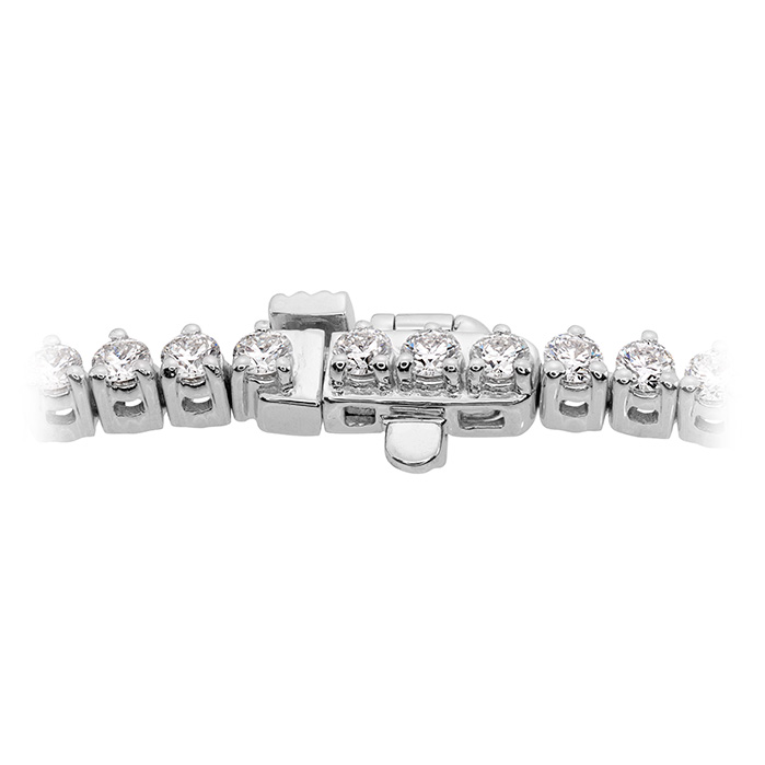 Women's Wedding Bands - 10 ctw. Temptation Three-Prong Necklace in 18K White Gold - image #3