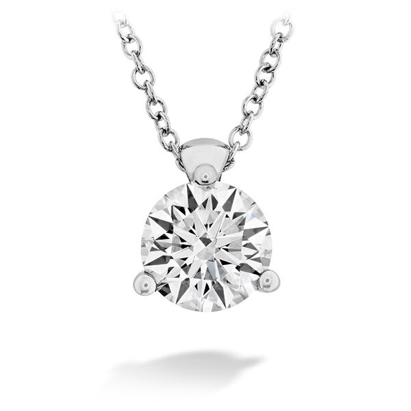 Women's Wedding Bands - 0.5 ctw. HOF Classic 3 Prong Solitaire Pendant in 18K White Gold