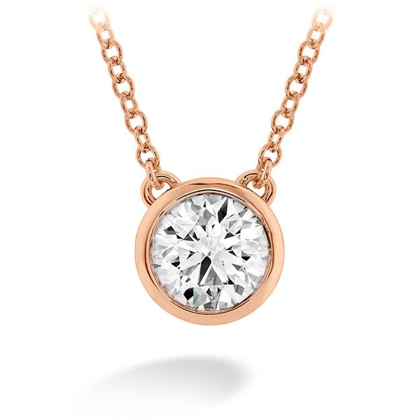 Women's Wedding Bands - 0.1 ctw. HOF Classic Bezel Solitaire Pendant in 18K Rose Gold