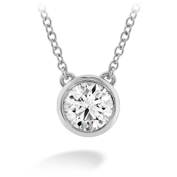 Women's Wedding Bands - 0.25 ctw. HOF Classic Bezel Solitaire Pendant in 18K White Gold