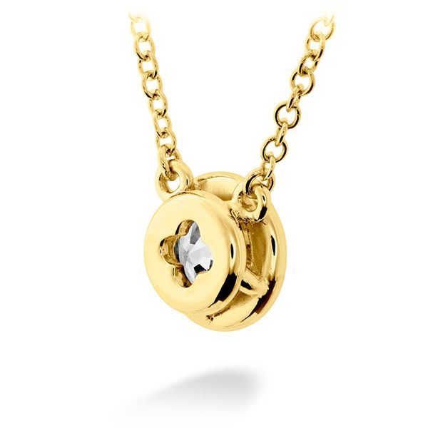Women's Wedding Bands - 0.25 ctw. HOF Classic Bezel Solitaire Pendant in 18K Yellow Gold - image #3