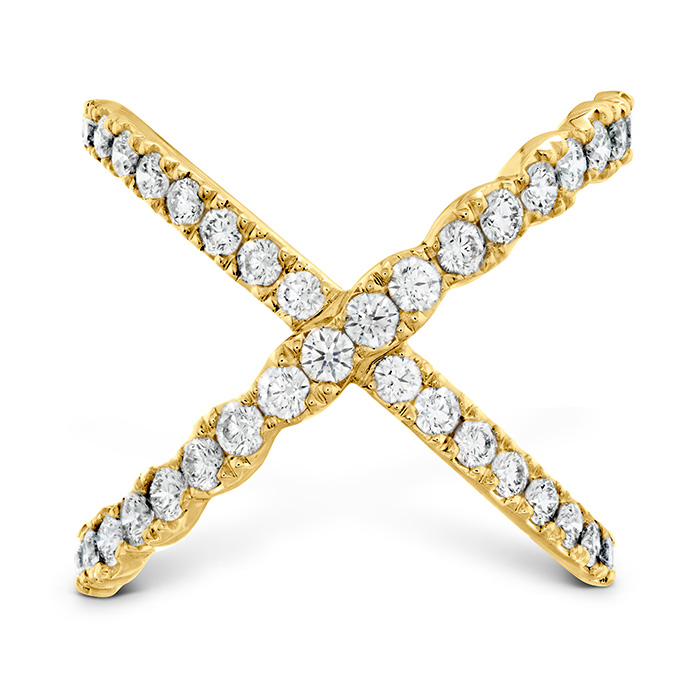 Women's Wedding Bands - 1 ctw. Lorelei Diamond Criss Cross Ring in 18K Yellow Gold