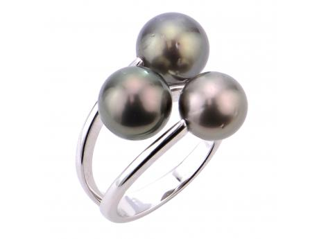Sterling Silver Tahitian Pearl Ring - 925 sterling silver 8-9 & 9-10MM TAHITIAN RING