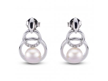 Sterling Silver Freshwater Pearl Earrings by Imperial Pearls