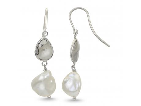 Sterling Silver Freshwater Pearl Earring by Imperial Pearls