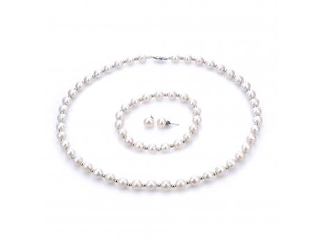 Sterling Silver Freshwater Pearl Set by Imperial Pearls