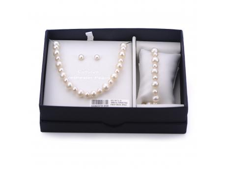 Sterling Silver Freshwater Pearl Set - 925 18