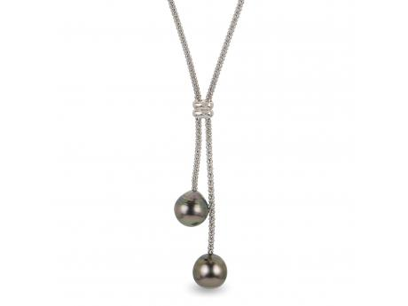Sterling Silver Tahitian Pearl Necklace - 16.5