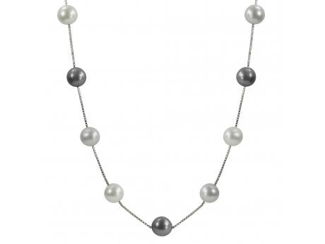 Sterling Silver Freshwater Pearl Necklace - This beautiful 17