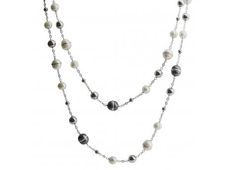 Sterling Silver Freshwater Pearl Necklace - 48