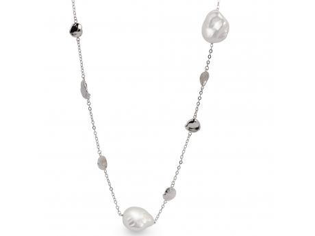 Sterling Silver Freshwater Pearl Necklace - 36