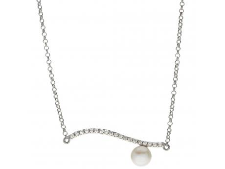 Sterling Silver Freshwater Pearl Necklace - 17