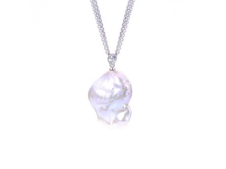 Sterling Silver Freshwater Pearl Pendant - 24