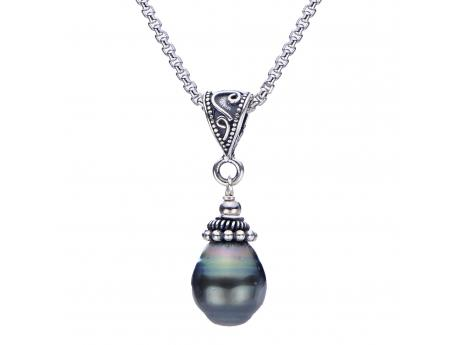Sterling Silver Tahitian Pearl Pendant by Imperial