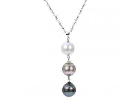 Sterling Silver Tahitian Pearl Ring by Imperial Pearls