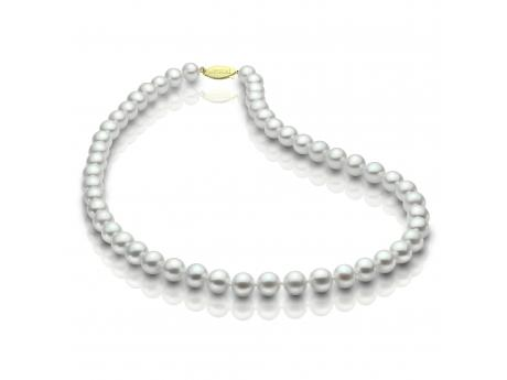 14K Yellow Gold Freshwater Pearl Necklace - 14KY 18