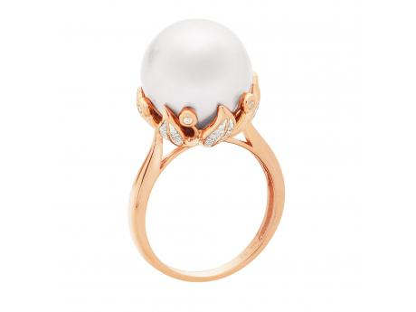 14K Rose Gold Freshwater Pearl Ring by Imperial