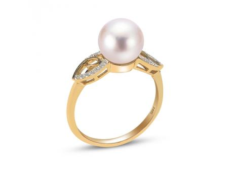 aeda52257 14K Yellow Gold Freshwater Pearl Ring 914866/FW-7 | Rings from Alan Miller  Jewelers | Oregon, OH