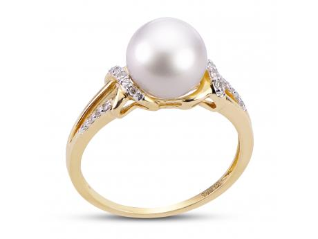 c3e619179 14K Yellow Gold Freshwater Pearl Ring 916220/FW | Rings from Montica ...