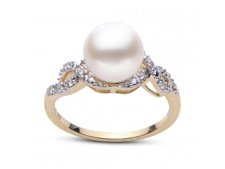 14K Yellow Gold Freshwater Pearl Ring by Imperial