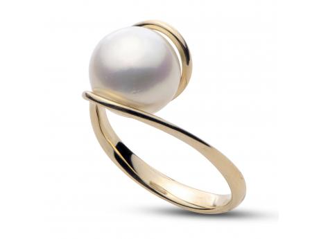 14K Yellow Gold Freshwater Pearl Ring - 14K 9-10MM