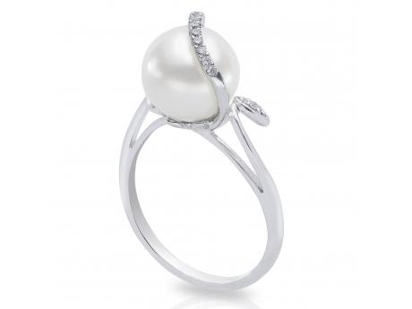 c3550bcac 14K White Gold Freshwater Pearl Ring 918204/WH | Pearl Rings from Cravens &  Lewis Jewelers | Georgetown, KY