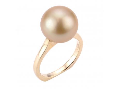 14K Yellow Gold Golden South Sea Pearl Ring - 14KY 12-13MM GOLDEN SOUTH SEA PEARL RING