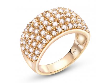 ffac06a1f 14K Yellow Gold Freshwater Pearl Ring 918752/FW-DIA-7 | Rings from Alan  Miller Jewelers | Oregon, OH