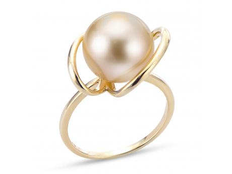 Imperial White South Sea Pearl Ring - 14K 11-12MM GOLDEN SS PRL RING