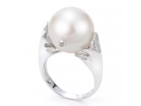 c689accb1 14K White Gold Freshwater Pearl Ring 919948/FW | Rings from Mitchell's  Jewelry | Norman, OK