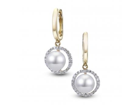 14K Yellow Gold Freshwater Pearl Earring by Imperial Pearls