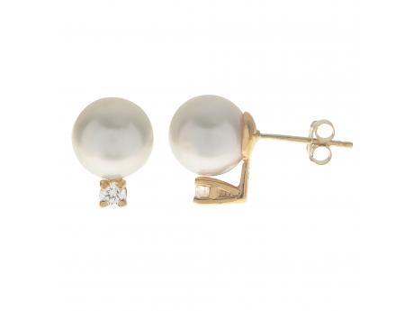 14K Yellow Gold South Sea Pearl Earrings by Imperial Pearls