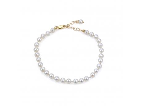 "14K 5"" W/1"" EXT  4-4.5MM FWCP CHILDRENS BRACELET"